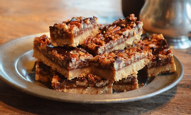 Pecan Shortbread Squares Recipe — Dishmaps